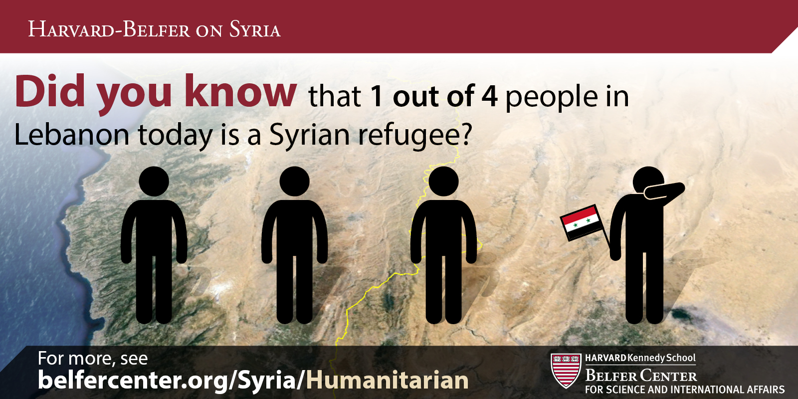 1-in-4 in Lebanon are Syrian refugees
