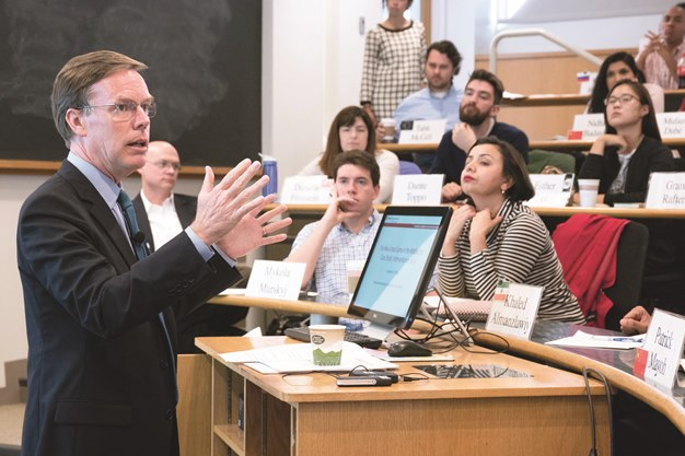 Professor Nicholas Burns teaches at HKS