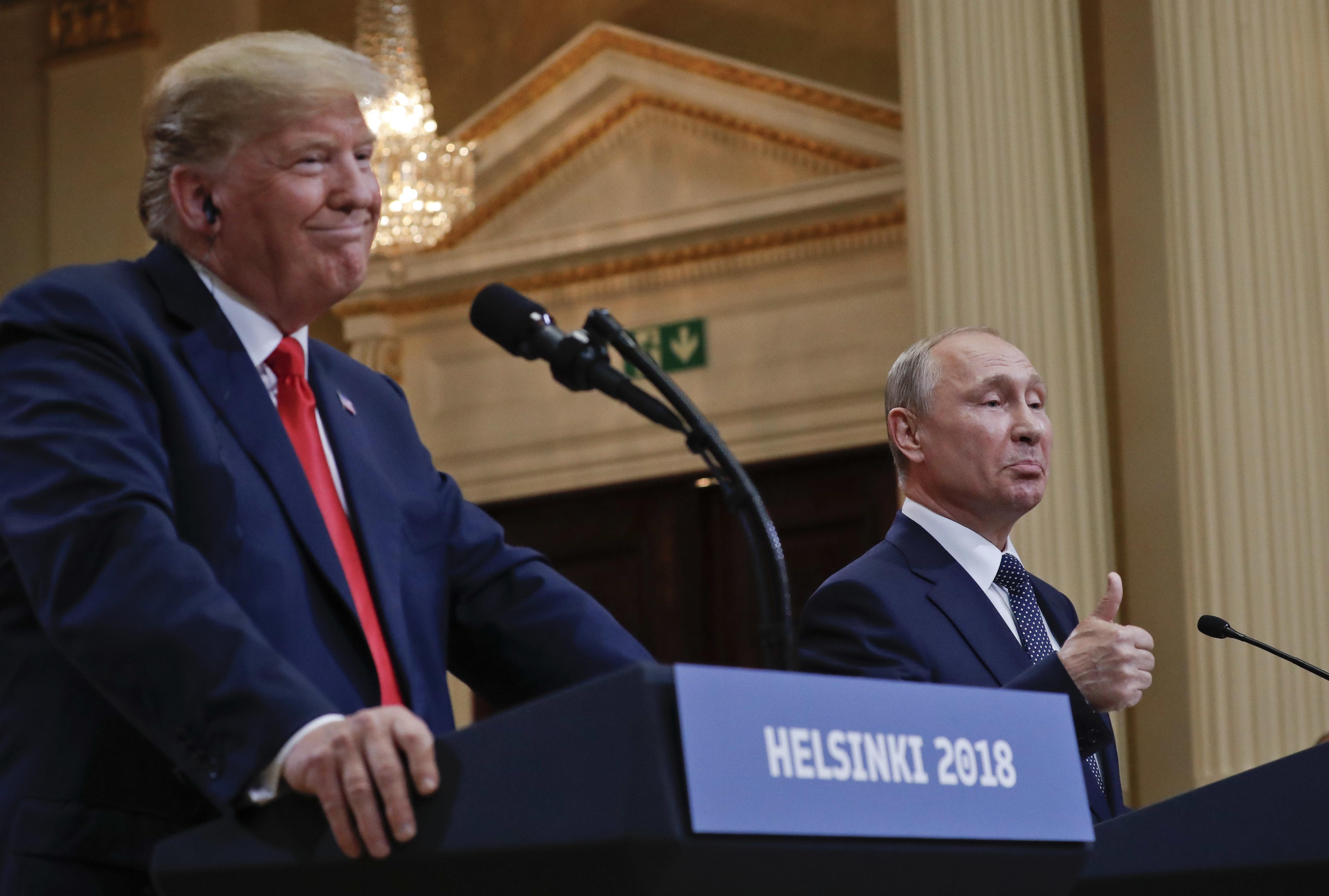 Putin and Trump at Helskini Press Conference