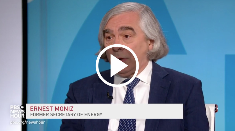 Ernest Moniz on PBS NewsHour