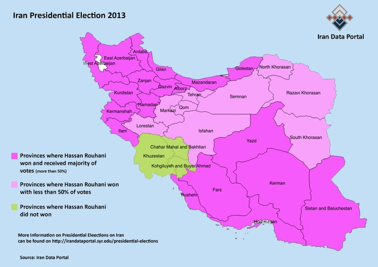 rouhani electoral map