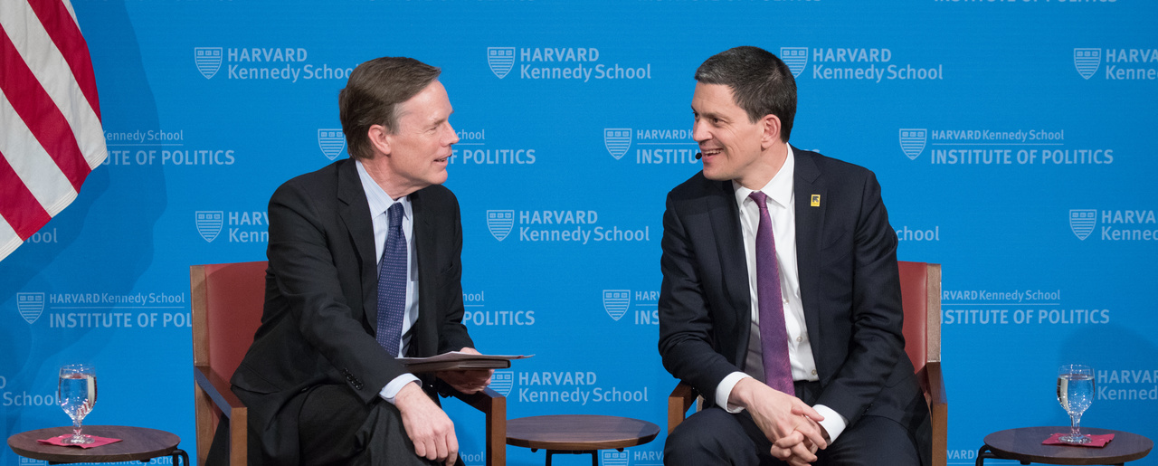 David Miliband and Nick Burns