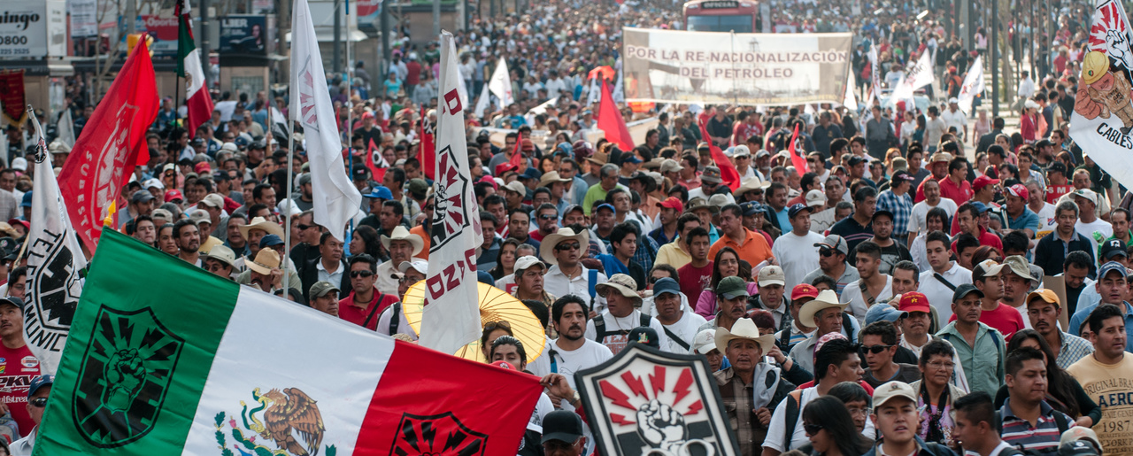 Mass protest against the privatization of PEMEX, Mexico City, March 18 2013.