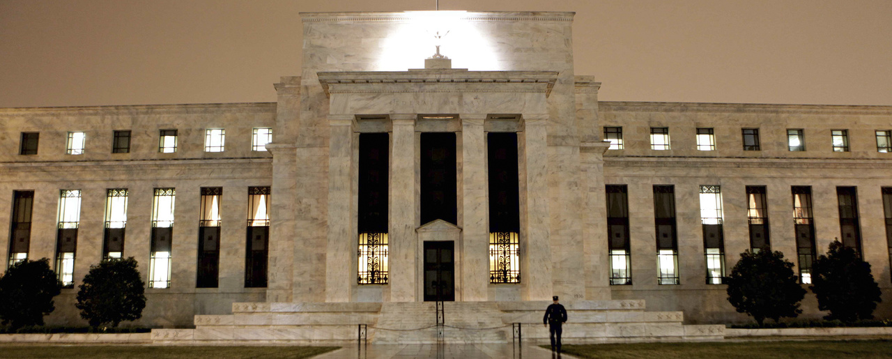 This March 27, 2009 file photo, shows the Federal Reserve Building on Constitution Avenue in Washington. (AP Photo/J. Scott Applewhite, file)
