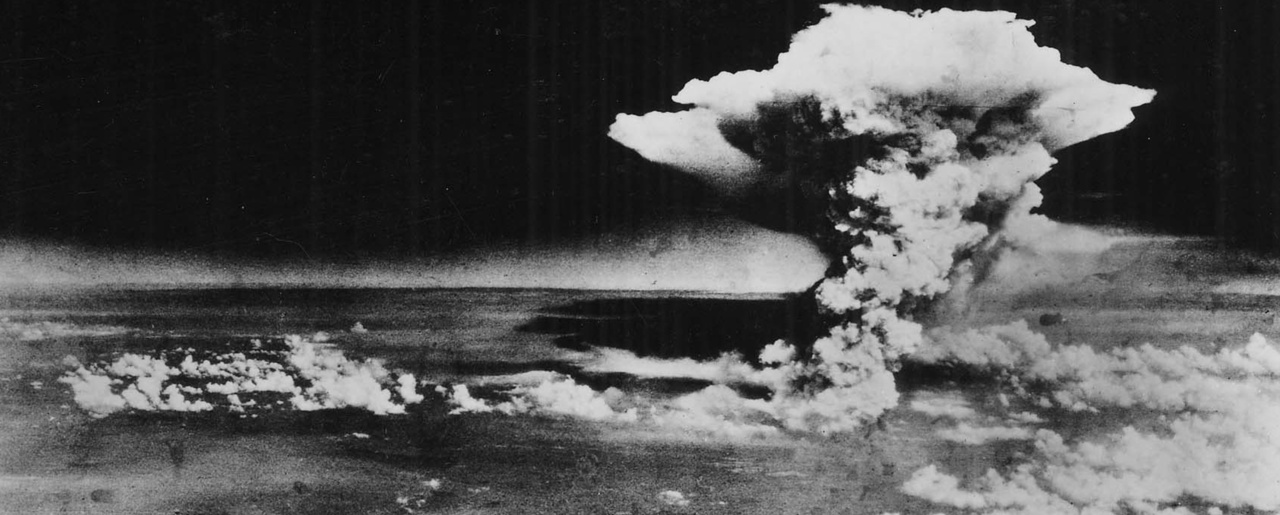 "In this Aug. 6, 1945, photo released by the U.S. Army and provided by the Hiroshima Peace Memorial Museum, a huge cloud resulting from the massive fires started by ""Little Boy"", the atomic bomb dropped on Hiroshima, Japan, is photographed from a reconnaissance plane a few hours after the initial explosion. (Hiroshima Peace Memorial Museum/U.S. Army via AP)"