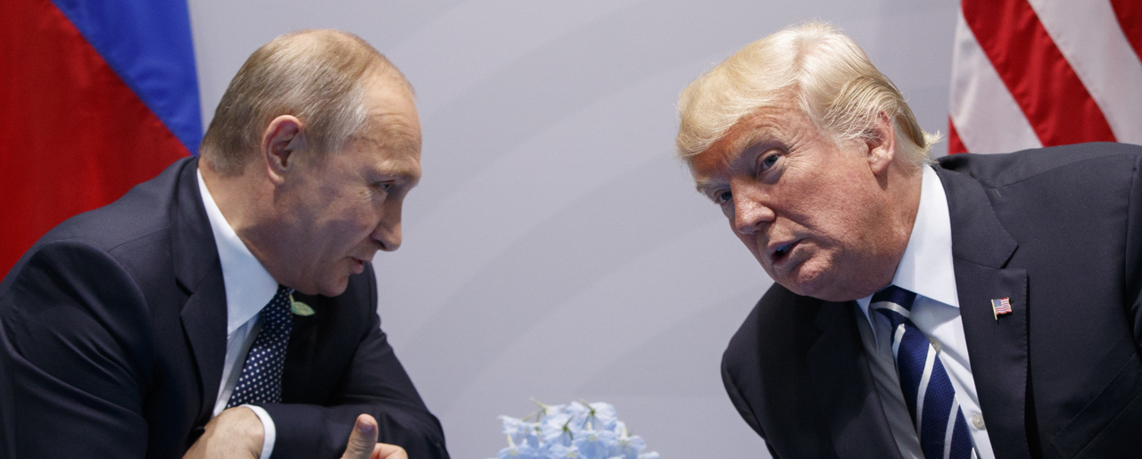 U.S. President Donald Trump meets with Russian President Vladimir Putin at the G-20 Summit on Friday, July 7, 2017, in Hamburg. (AP Photo/Evan Vucci)