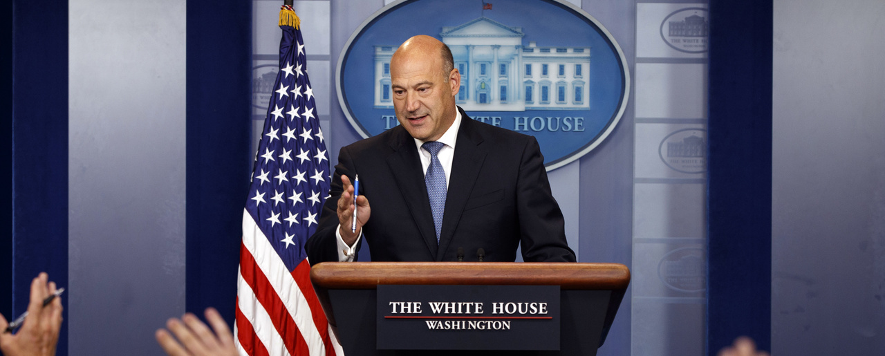White House chief economic adviser Gary Cohn speaks during the daily press briefing on Thursday, Sept. 28, 2017 (AP Photo/Evan Vucci).