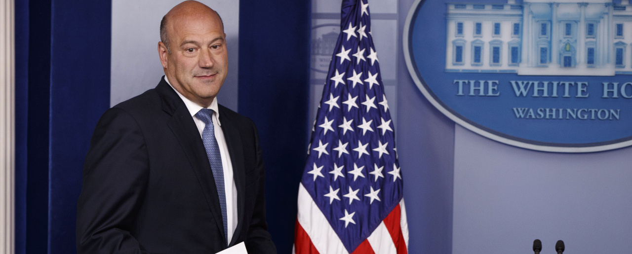 White House chief economic adviser Gary Cohn arrives to speak during the daily press briefing on Sept. 28, 2017. (AP Photo/Evan Vucci)