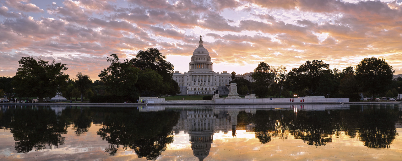 The U.S. Capitol is seen at sunrise, in Washington, October 10, 2017