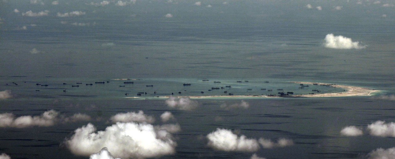 China's alleged ongoing reclamation of Mischief Reef in the Spratly Islands in the South China Sea, May 11, 2015.