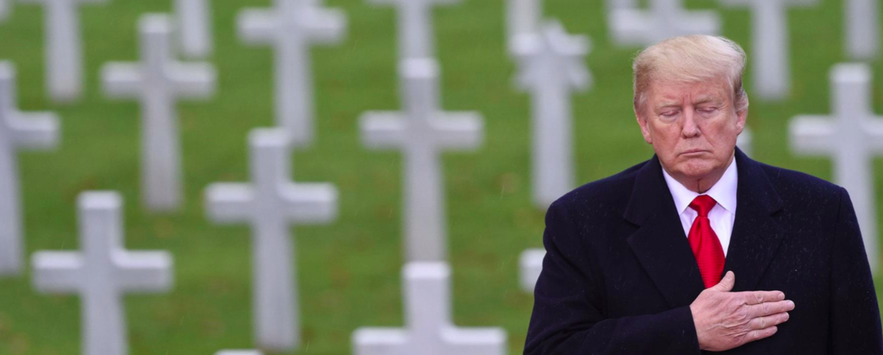 President Donald Trump Visits the American Cemetery of Suresnes, Outside Paris