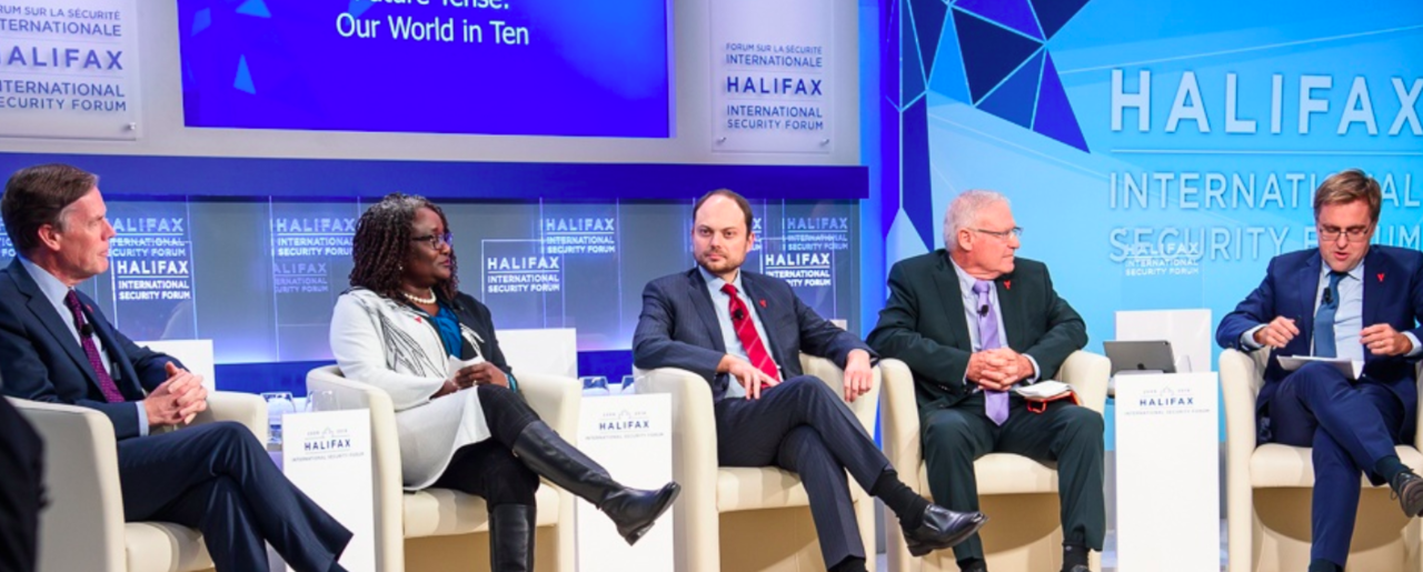 Panel discussion at Halifax International Security Forum 2018