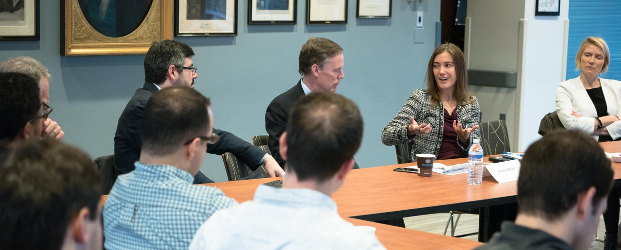 Dr. Amanda Sloat presents at the Harvard Kennedy School