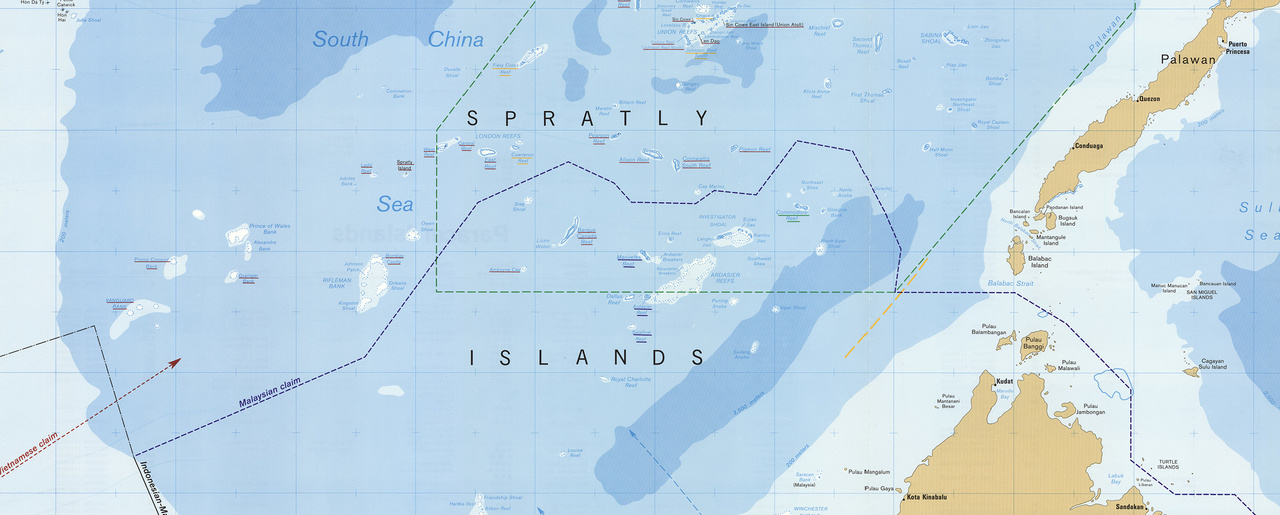 Freedom of navigation in the south china sea a practical guide united states central intelligence agency the spratly islands and paracel islands scale 1 gumiabroncs Image collections