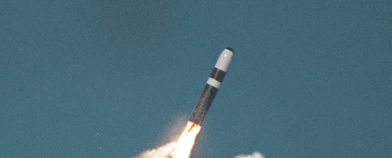 A U.S. Trident II missile launches (Wikimedia Commons).