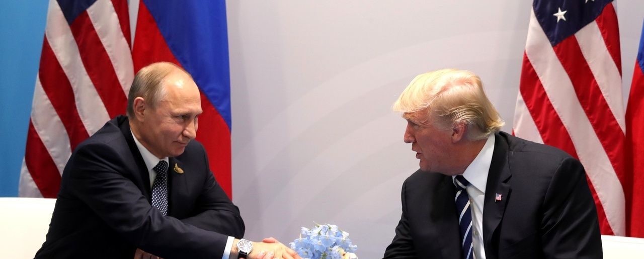 Vladimir Putin meets with U.S. President Donald Trump at the G20 summit in Hamburg, Germany, July 2017
