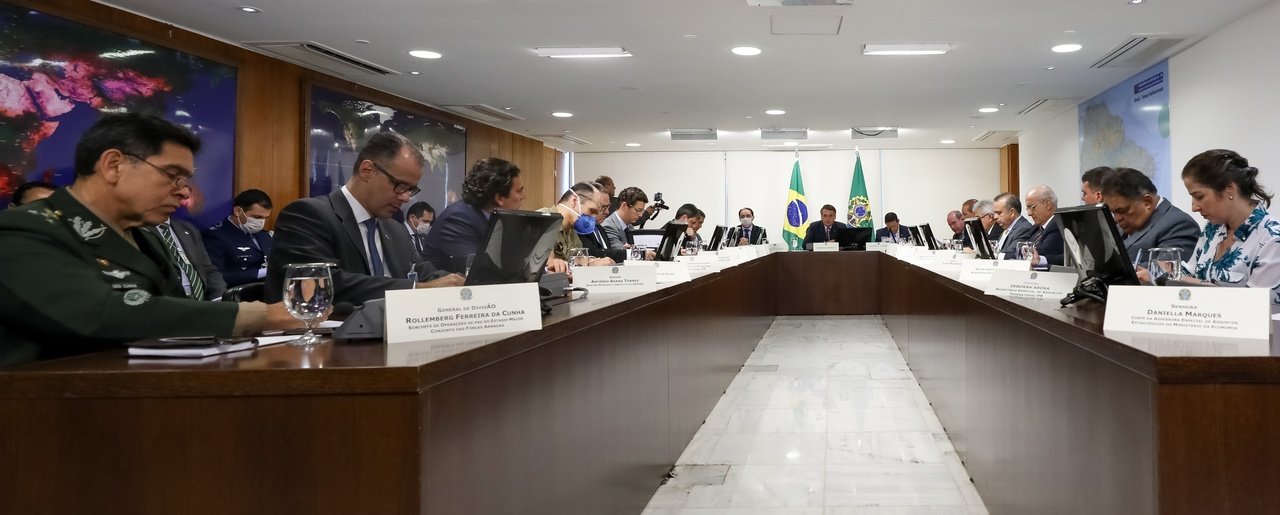President of the Republic of Brazil Jair Bolsonaro during a videoconference with Governors of the Southeast