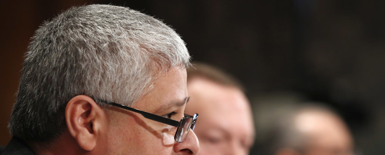Robert Cintron, Vice President of Network Operations at the United States Postal Service testifies during a Senate Governmental Affairs subcommittee hearing