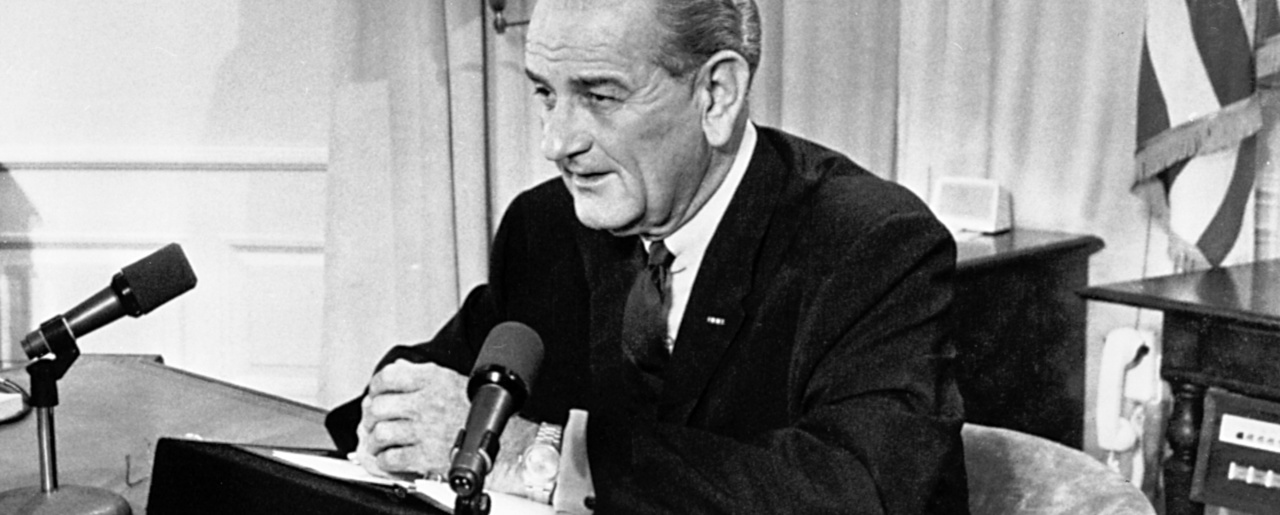an analysis of materialism as per lyndon b johnson Lyndon b johnson president, robert f kennedy  lyndon b johnson  to create a continent of money hungry slaves blinded by materialism and.