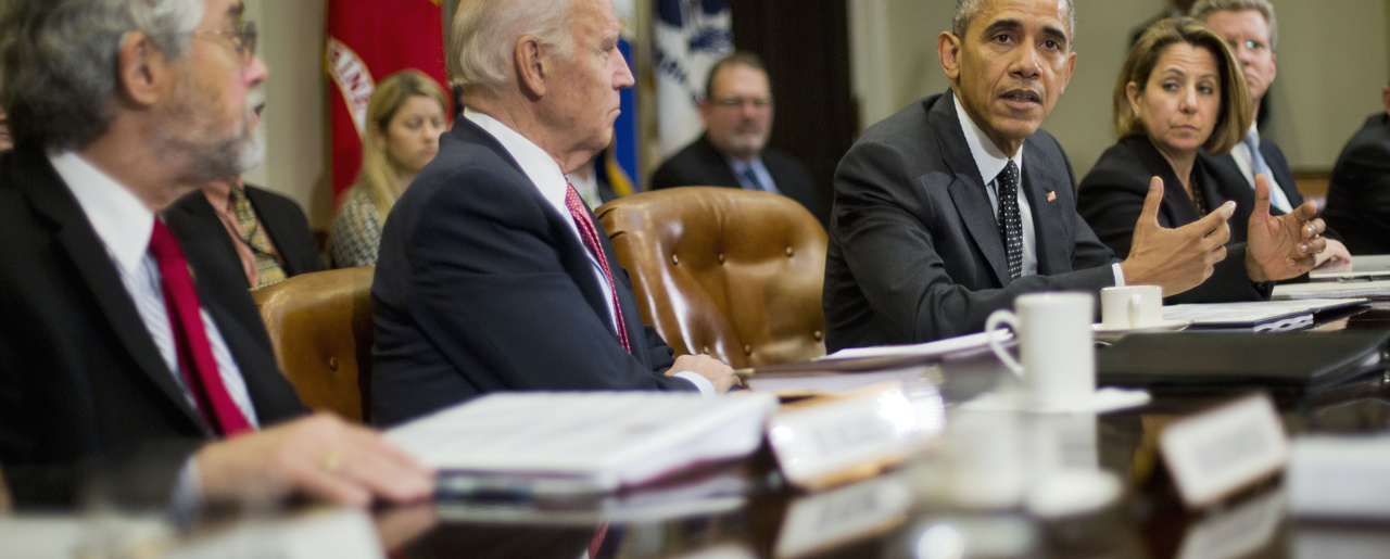 President Barack Obama meets with members of this national security team and cybersecurity advisers.