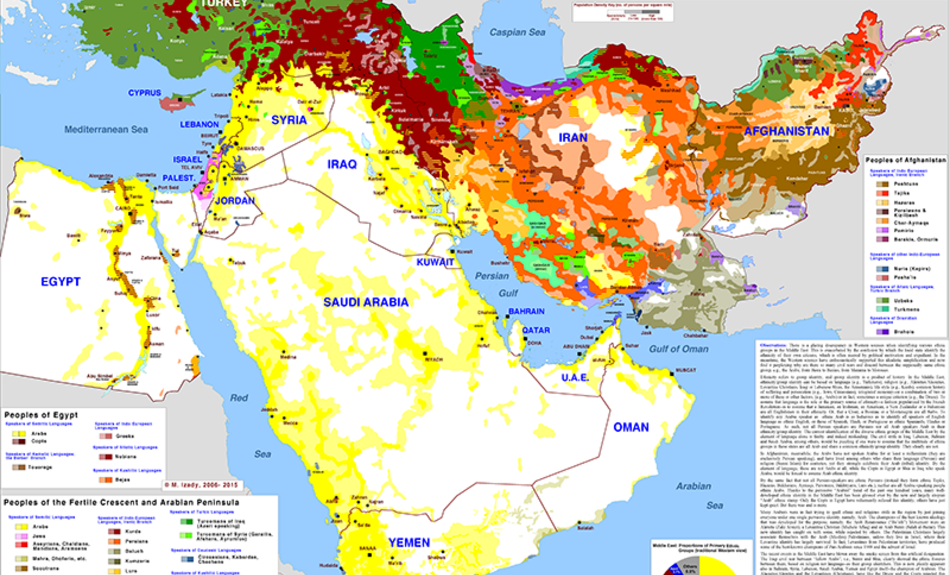 Middle East Ethnic composition