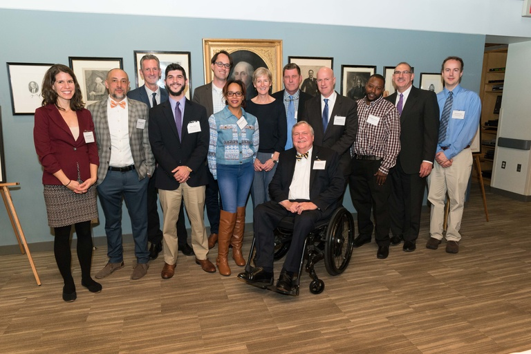 Roy Award winners—partners in the Advancing Green Infrastructure Program—gather following the awards ceremony at Harvard Kennedy School in November.