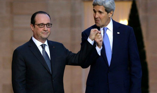 Kerry and Hollande