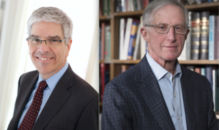 Paul Romer (L) and William Nordhaus (R) have been awarded the 2018 Sveriges Riksbank Prize in Economic Sciences. EPA-EFE
