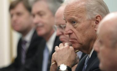 In this March 10, 2011, file photo, Vice President of the United States Joe Biden, listens to Russian Prime Minister Vladimir Putin, during their meeting in Moscow, Russia.