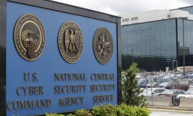 This June 6, 2013 file photo, shows the sign outside the National Security Agency (NSA) campus in Fort Meade, Md