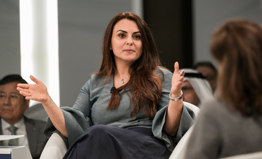 "Mina al-Oraibi, Editor-in-Chief, The National, United Arab Emirates during the Session: ""Towards a Shared Narrative about the Future"" at the World Economic Forum, Annual Meeting of the Global Future Councils 2017"