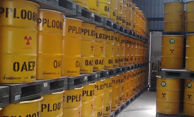 Radioactive waste barrels.