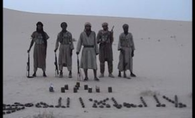 Al Qaeda in the Islamic Maghreb combatants in the Algerian desert, 27 February 2014.