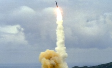 A Minuteman III ICBM test launch from Vandenberg Air Force Base, California