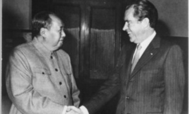 President Richard M. Nixon meets with China's Communist Party Leader, Mao Ze-Dong, 02/29/1972