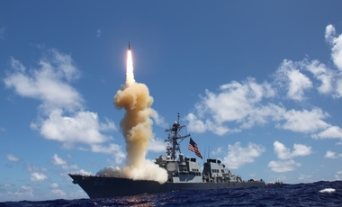 Oct. 25, 2012 - A SM-2 Block IIIA missile is launched from the USS Fitzgerald during the FTI-01 flight test.