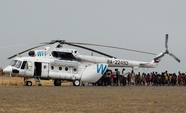 UTair Mil Mi-8AMT delivering food aid in Ulang, South Sudan, 23 March 2017