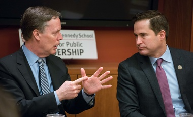 Nicholas Burns (r) and Seth Moulton