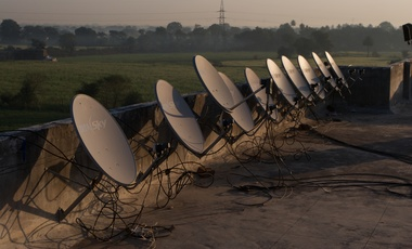 Satellite dishes from creative commons