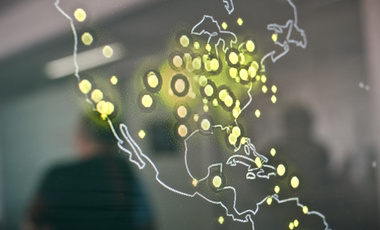 A map of the United States displayed on a computer screen shows cyber attacks in real time, taken on March 5, 2015 at the headquarters of Bitdefender, a leading Romanian cyber security company, in Bucharest, Romania. (AP Photo/Octav Ganea, Mediafax)