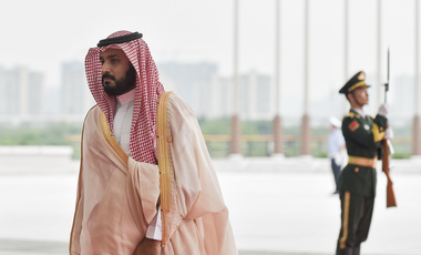 Deputy Crown Prince Mohammed bin Salman arrives at the Hangzhou Exhibition Center to participate in G20 Summit, Sunday, Sept. 4, 2016 in Hangzhou, China.