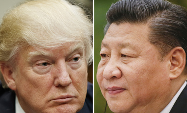 "This combination of file photos shows U.S. President Donald Trump on March 28, 2017, in Washington, left, and Chinese President Xi Jinping on Feb. 22, 2017, in Beijing. Trump is suggesting ahead of his two-day meeting starting Thursday, April 6, 2017 with Xi that with or without Beijing's help, he can ""totally"" handle North Korea, but his solution would have to be pretty clever. (AP Photo/Files)"