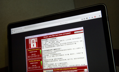 A global ransomware attack, as shown from the perspective of a computer user in Beijing, May 13, 2017.