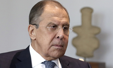 Russian foreign minister Sergey Lavrov pauses during talks with the Cyprus' foreign minister Ioannis Kasoulides, at the foreign ministry in capital Nicosia, Cyprus, on May 18, 2017. (Yiannis Kourtoglou, Pool via AP)