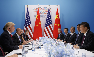 President Donald Trump meets with Chinese President Xi Jinping at the G20 Summit, in Hamburg, Germany on July 8, 2017. (AP Photo/Evan Vucci)