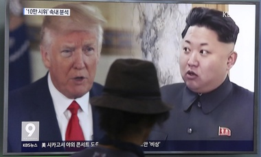 U.S. President Donald Trump and North Korean leader Kim Jong Un