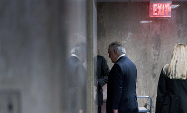 Secretary of State Rex Tillerson walks down a hallway after speaking at a news conference at the State Department in Washington on Tuesday, March 13, 2018. President Donald Trump fired Tillerson and said he would nominate CIA Director Mike Pompeo to replace him. (AP Photo/Andrew Harnik)