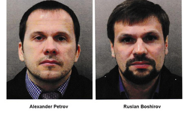The left photo features Alexander Petrov, and the right photo features Ruslan Boshirov, two men that British prosecutors have charged with the nerve agent poisoning of ex-spy Sergei Skripal and his daughter Yulia. On October 8, investigative group Bellingcat reported that Petrov is actually Alexander Mishkin, a doctor working for the Russian military intelligence unit known as GRU.