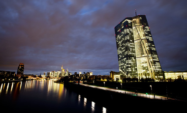 The European Central Bank by the river Main in Frankfurt, Germany.