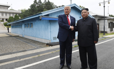 President Donald Trump and North Korea leader Kim Jong Un in the Demilitarized Zone